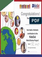 World Stories Certificate