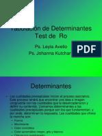 Tabulación de Determinantes F