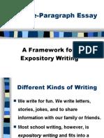 Five Paragraph Essay