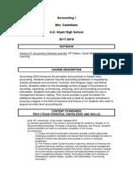 accounting syllabus