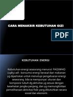 Cara Menaksir Kebut Energi
