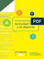 Terminología Básica de La Actividad Física y El Deporte