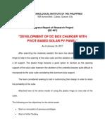 Progress Report 1-18-2017