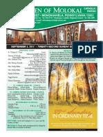 September 3, 2017 - Bulletin