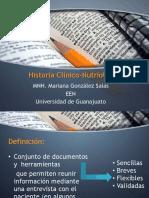 Historia CliNico-nutrioloGica
