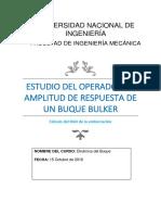 estudio del operador amplitud de respuesta (RAO)