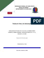 Geologia Folha SF23XAVI1 Conselheiro Lafaiete