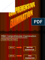 (2) Comprehensive Examination