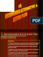 (7) Recommended Aca and Action Plan