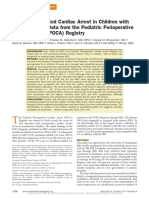 Anesthesia-pediatric Perioperative Cardiac Arrest Poca Registry