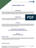 Acuerdo 14-2017 c.s.j. Acuerdo Para La Implementación Del Control Telemático en El Proceso Penal