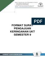 02 . Format Surat Pengajuan Keringanan Ukt Semester 9