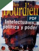 Bourdieu Intelectuales Politica y Poder