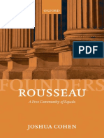 Cohen, Joshua, Rousseau a Free Community of Equals the Founders