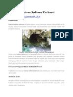 Petrografi Batuan Sedimen Karbonat