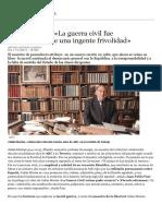 Julián Marías_ «La Guerra Civil Fue Consecuencia de Una Ingente Frivolidad» - ABC