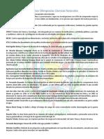 Olimpiada Nacional de Ciencias, Ciencias Naturales segundo basico, contenido para la prueba departamental