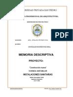 Memoria Descriptiva Sanitarias 1
