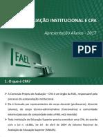 Apresentação - CPA 2017_Alunos_EAD