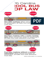 NC School Bus Stop Law INCDOT