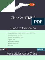 Clase 2 - HTML Parte 2 v3