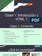 Clase 1 - Introducción y HTML v3