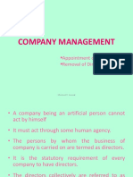 12. Company Management