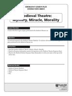 Emergency Lesson Plan Medieval Theatre