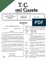 Resmi Gazete 20 Temmuz 1961, Sayı 10859