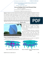 Analysis of Multistoreyed Building With Twisted Hexagonal Shape