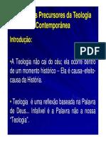 Elementos Precursores Da Teologia Contemporanea - Slides