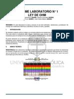 Lab No.1 Ley de Ohm