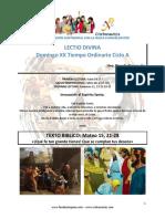 Domingo XX del Tiempo Ordinario Ciclo A.pdf