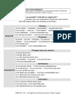 Indicatif Subjonctif (1)