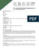 english department common syllabus 2017-18