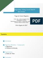 Comparação entre Algoritmos Genéticos e Algoritmos Meméticos Utilizando a Busca Local BitClimber