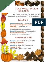 Structura an Scolar2014-2015