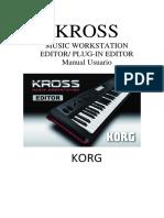Manual Korg  Kross editor en Español