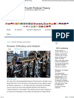 Russian Orthodoxy and Initiation _ the Fourth Political Theory