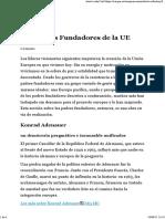 Los Padres Fundadores de La UE