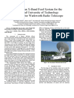 Design of an X-Band Feed System for the Auckland University of Technology 30m Diameter Warkworth Radio Telescope