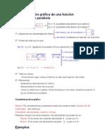 Representación gráfica de una función cuadrática parábola