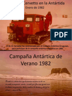 Guillermo Cervetto - Campaña Antártica de Verano 1982