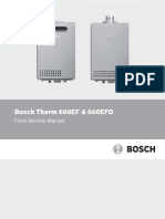 Bosch Therm 660EF 660EFO Field Service Manual