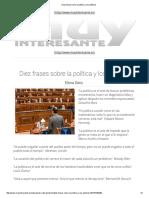 Diez Frases Sobre La Política y Los Políticos