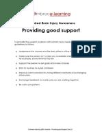 ABI Checklist - Providing Good Support