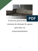 Concreto Permeable Como Sistema de Drenaje de Aguas Pluviales en Estacionamientos, Caso Farmacia San Pablo