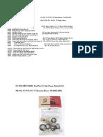 K2 RKxxx Kits List