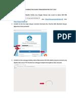 Panduan Mencetak Surat Pengantar Pre Test