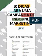 10 Dicas Para Uma Campanha de Inbound Marketing WSI Tecnologia Online